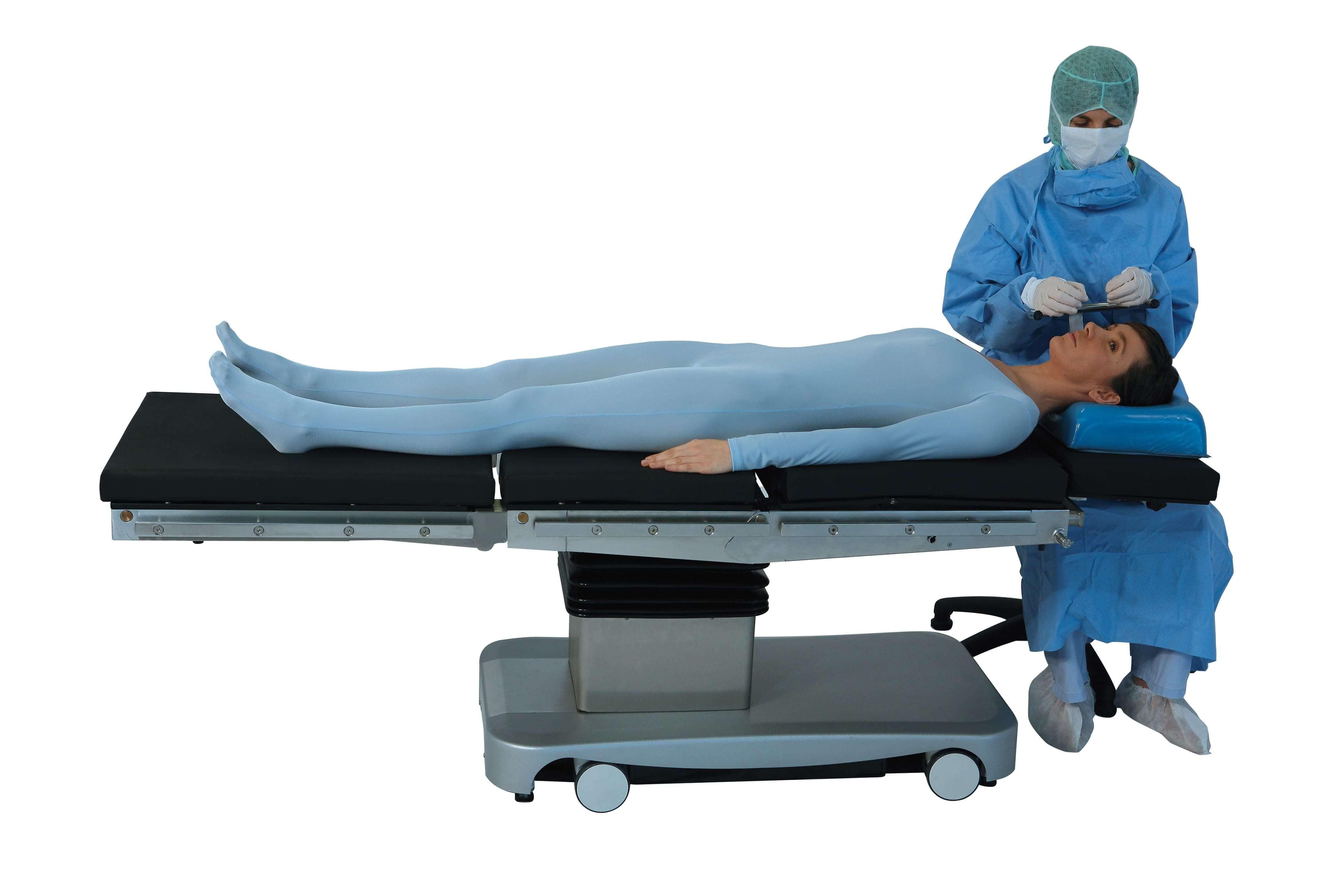 Положение операционного стола для операции на руке